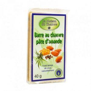 CBD Marketplace Barre Pâte d'amande et graines de chanvre grillées Bio