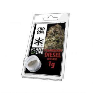 CBD Marketplace CBD Hash Solide 10% Strawberry Diesel 1g