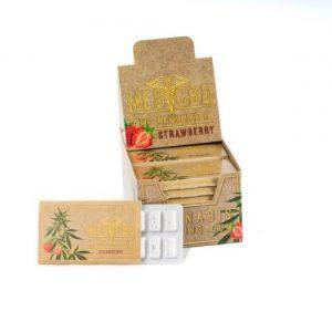CBD Marketplace Chewing-gum fraise au CBD 2%, 7mg de cannabidiol