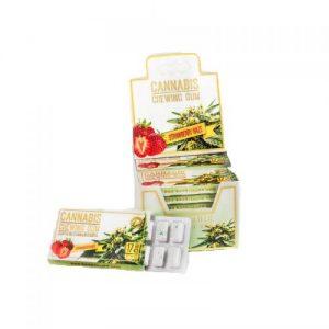 Chewing-gum goût strawberry haze au CBD 2%