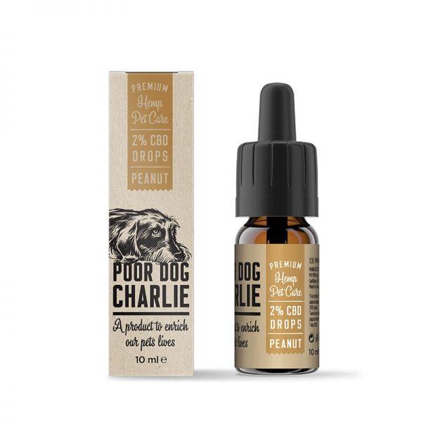 CBD Marketplace huile de Cbd 2% poor dog Charlie saveur cacahuète