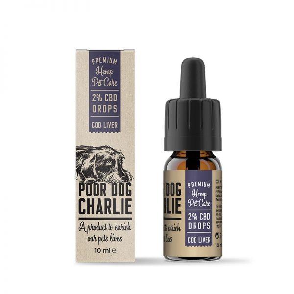 CBD Marketplace Huile de CBD pour animaux 2% saveur foie de morue