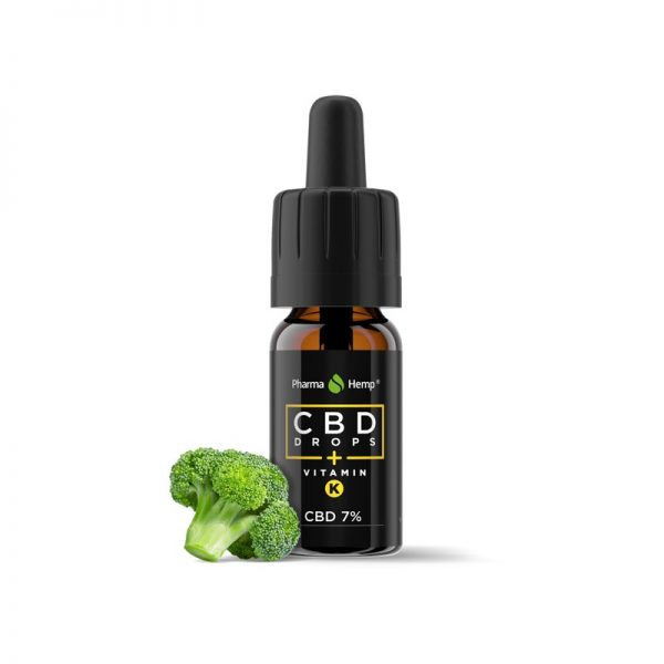 CBD marketplace Huile de CBD 7% à l'huile de chanvre vitamine K