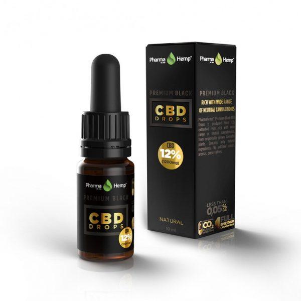 CBD Marketplace Huile CBD Premium Black base huile d'olive 24%
