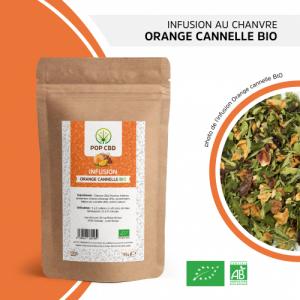 CBD Marketplace infusion chanvre orange cannelle Bio CBD