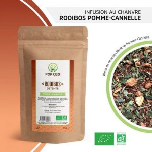 CBD Marketplace infusion chanvre rooibos pomme cannelle