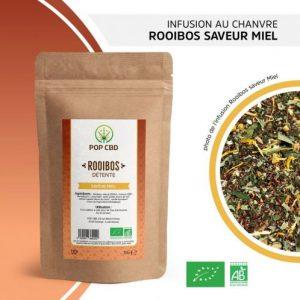 CBD Marketplace infusion chanvre rooibos saveur miel