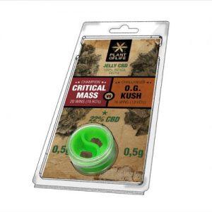 CBD Marketplace Jelly hash CBD 22% Critical VS OG Kush 0.5g+0.5g