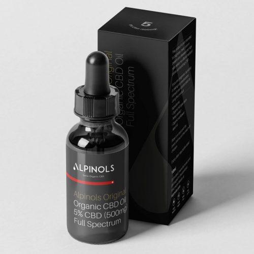 Huile CBD 5% Spectre Complet | ALPINOLS | CBD Marketplace