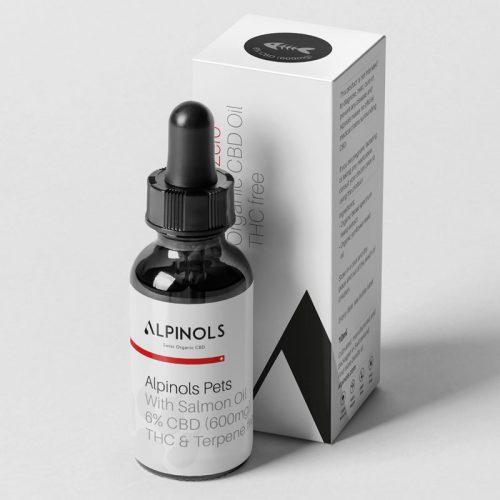 Huile CBD 6% Saumon Pour Animaux   ALPINOLS   CBD Marketplace