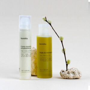 Coffret DUO Cosmétiques : Huile + Crème | Saveurs CBD x Hemeka | CBD Marketplace
