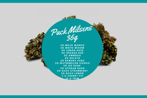 Pack Milsens 36g   Milsens CBD   CBD Marketplace
