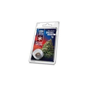 Hash CBG 33% Strawberry Diesel 1g | Plant Of Life | CBD Marketplace