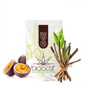 Pastilles bio CBD Passion-Réglisse 10mg x30 | CBD'Eau | CBD Marketplace