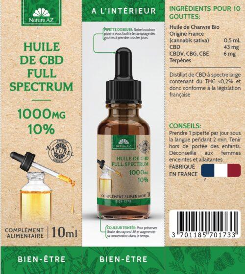 Huile de CBD 10%-40% Full Spectrum | Nature AZ | CBD Marketplace